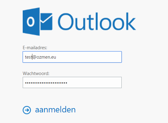 Outlook Web App inlog