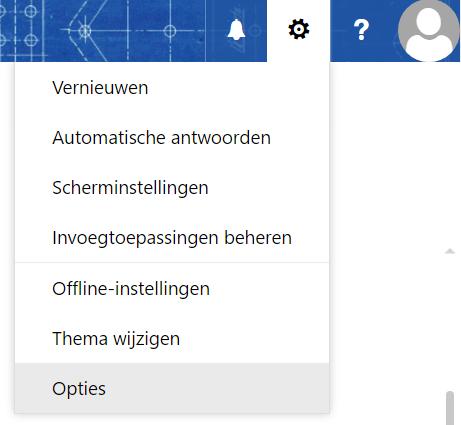 Outlook Web App instellingen