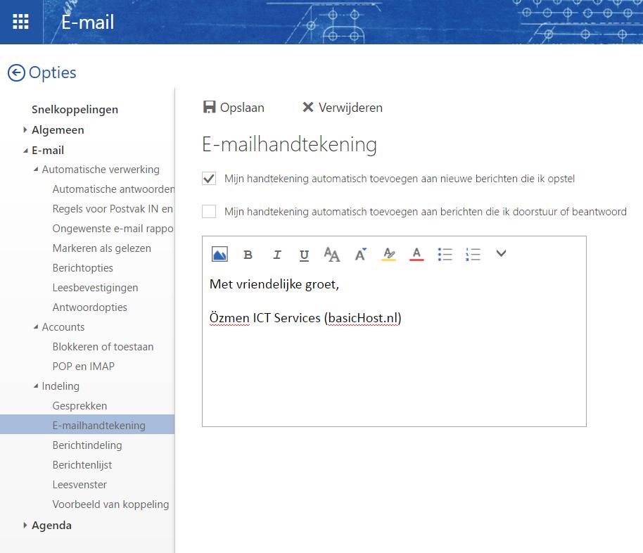E-mailhandtekening